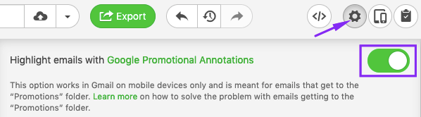 Activating Gmail Annotations Option