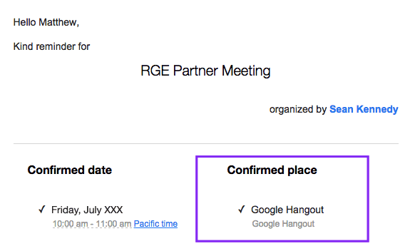 Appointment Confirmation Emails_Specifying Place of Meeting