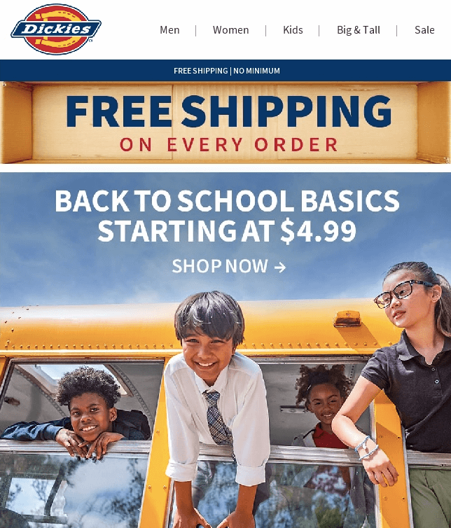 Back To School Email Campaign by Dickies