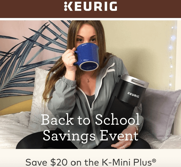 Back to School Email Campaign-Keurig