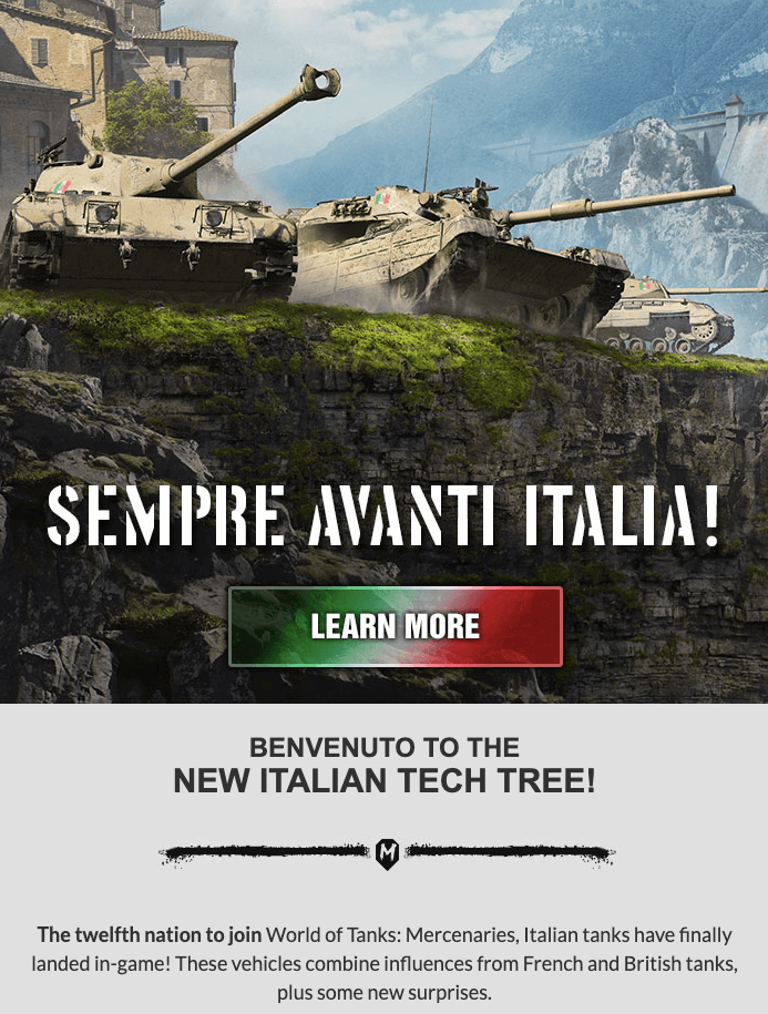 Best Newsletter Examples_Thematic CTA Buttons by World of Tanks