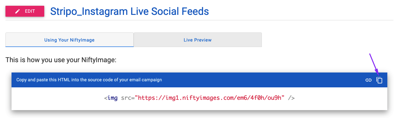 Dynamic Email Content_Live Social Feed_Embed Code