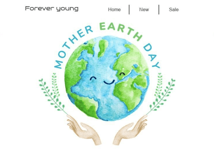 Earth Day email templates with Big Bright Banners