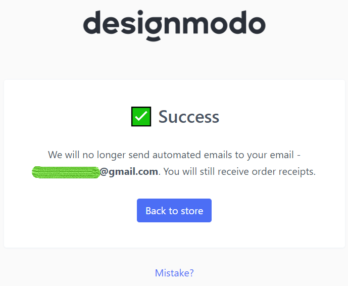 Effective Unsubscribe Page Example by Designmodo_Stripo