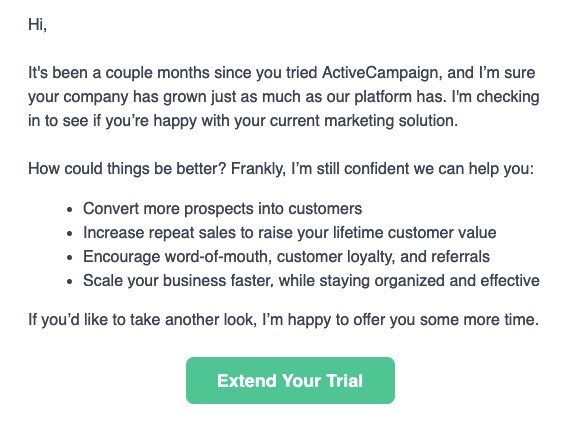 Follow Up Email by ActiveCampaign