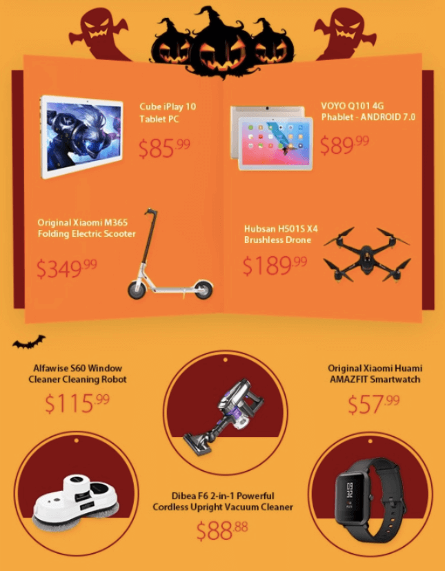 Halloween Email Examples_Thematic Images Across Emails
