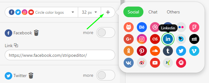 How to Build Email with Stripo Adding Social Icons