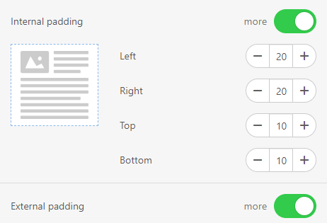 How to Build Email with Stripo Setting Internal Paddings inside Button