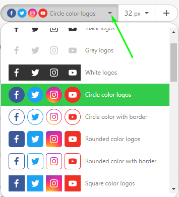 How to Build Email with Stripo Setting Style and Color to Social Media Icons