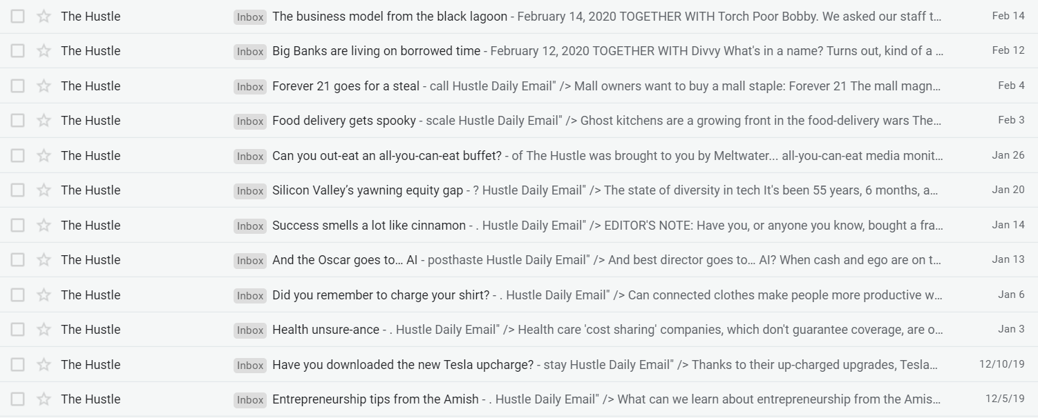 Paying Attention to Subject Lines
