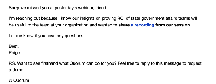 Quorum_Sorry We Missed You