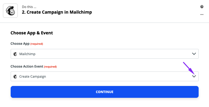 Setting Mailchimp as Connection
