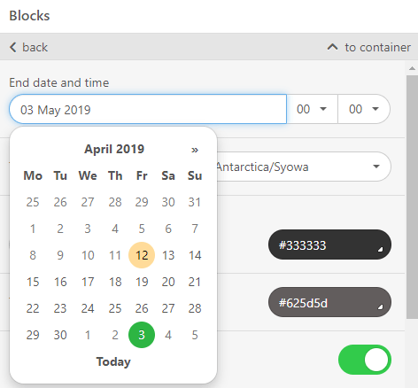 Stripo AtoZ Working with timer_Setting Dates