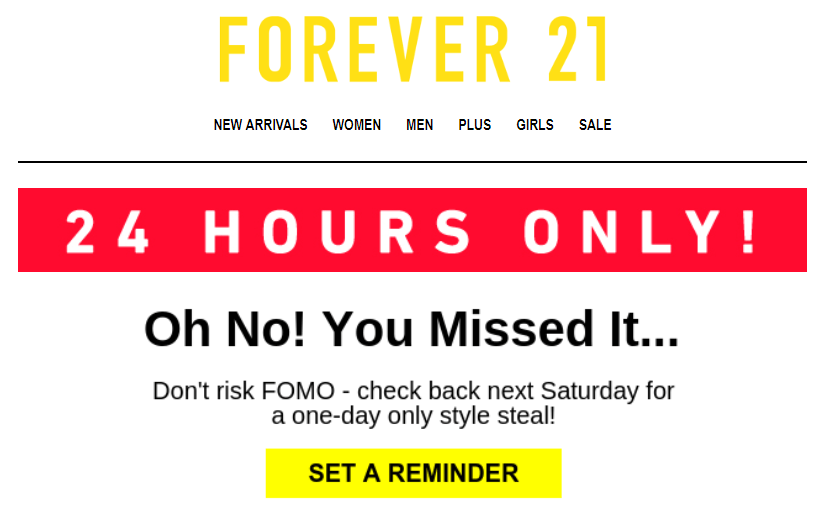 Stripo Countdown Timer Forever21