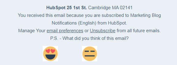 Unsubscribe Page_HubSpot_Asking to Rate Emails_Stripo