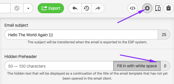 Adding Whitespaces to Subject Lines