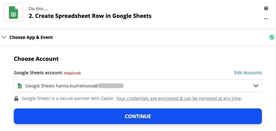 Zapier-Chooses-Goole-Drive-as-Your-Account