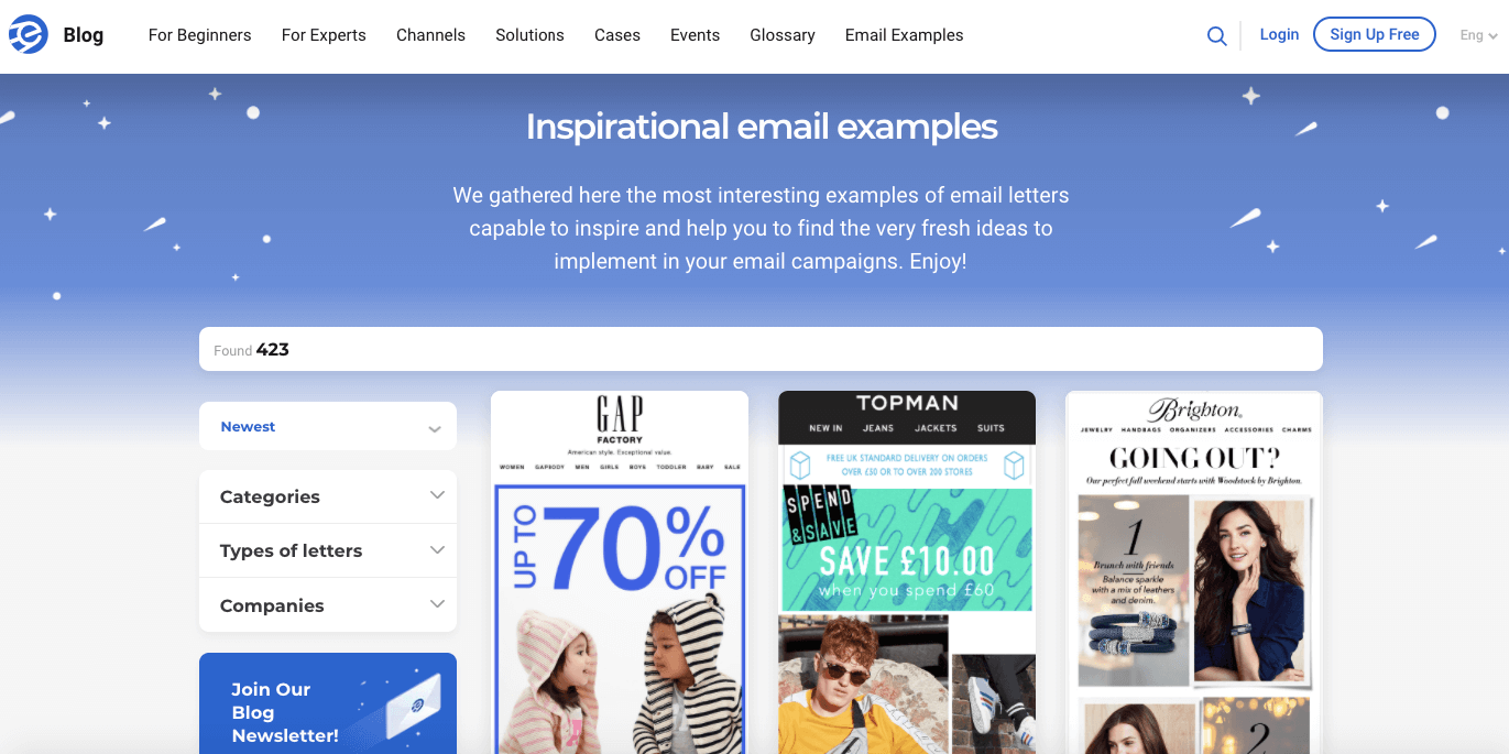 eSputnik_Page-with-Email-Examples