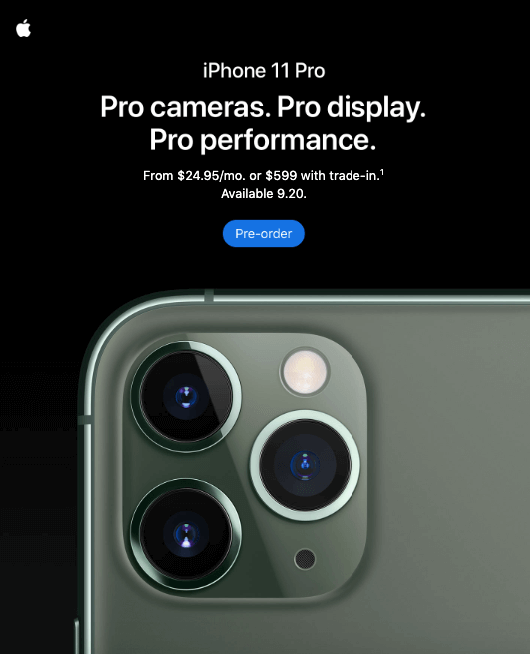 iPhone 11_Pre-Order_Product Laucnh Announceement Emails