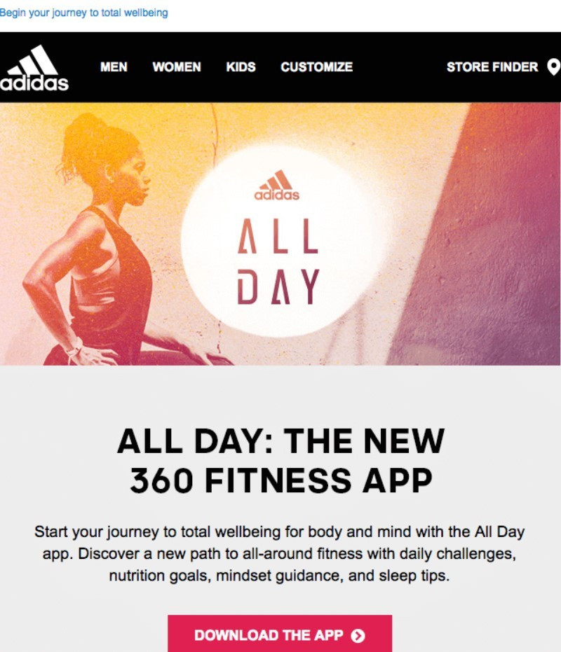Stripo-Adidas-New-App-Announcement
