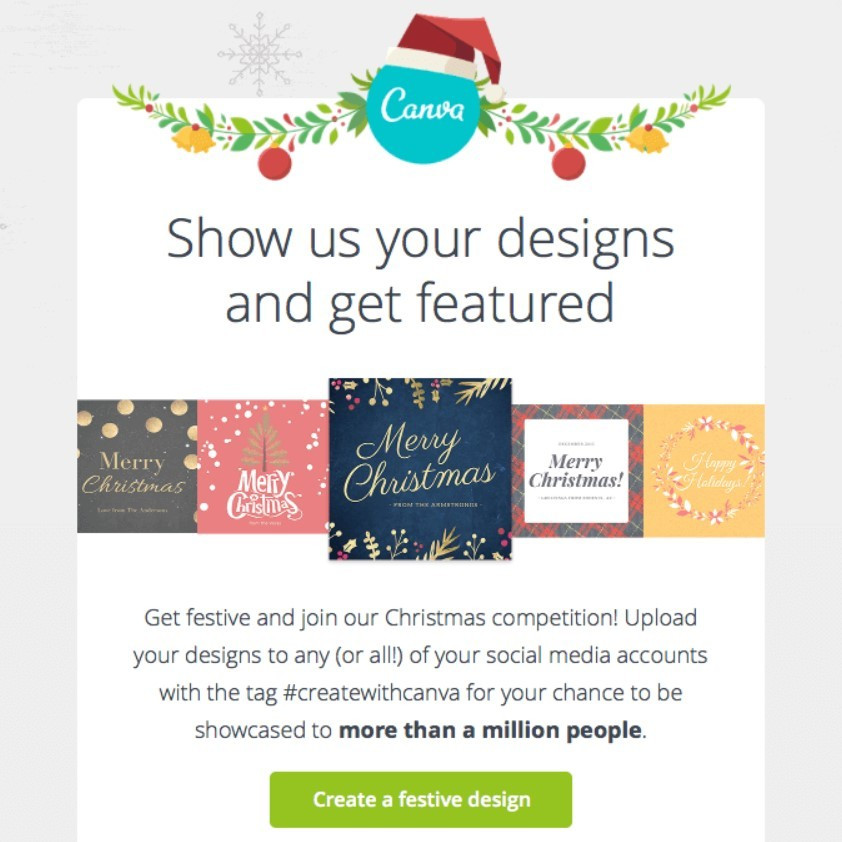 Stripo Christmas newsletter ideas - Contest - Canva