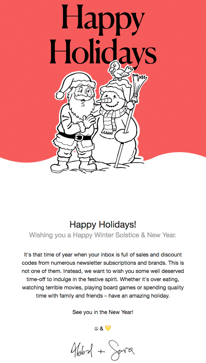 Stripo Christmas email marketing - Wish
