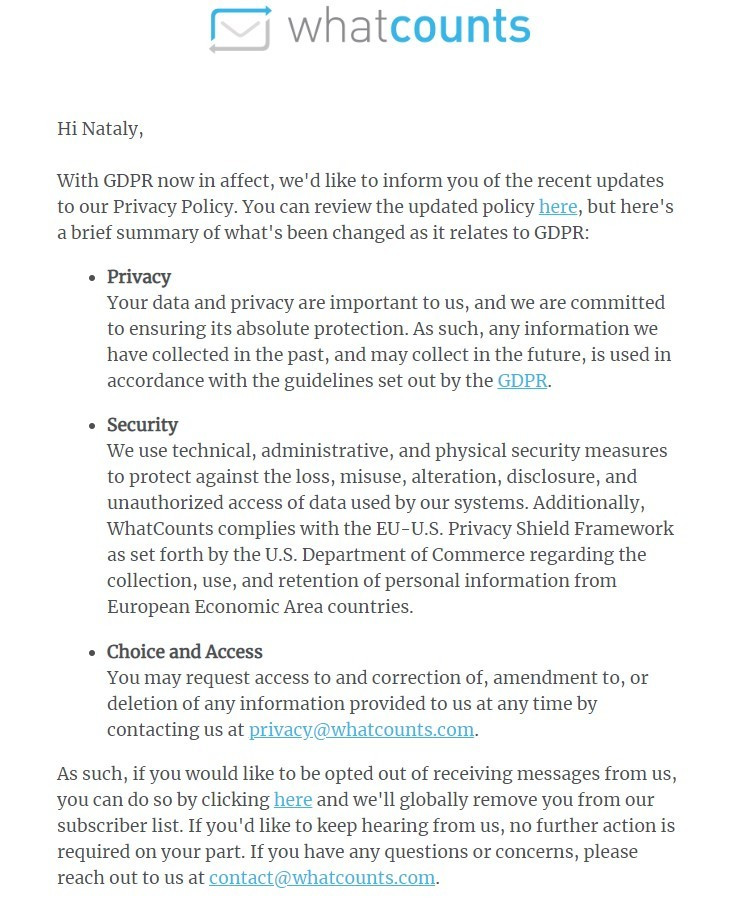 10 Great Examples Of GDPR Emails Stripo