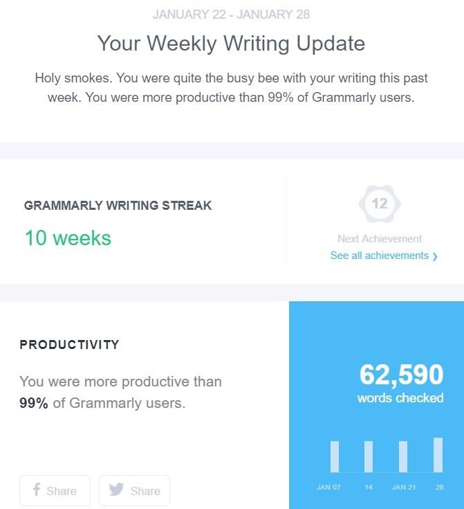 Stripo 10 Examples Grammarly Report