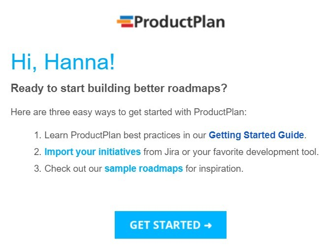 Stripo-Hyperpersonalization-ProductPlan-Personalized-Welcome-Email