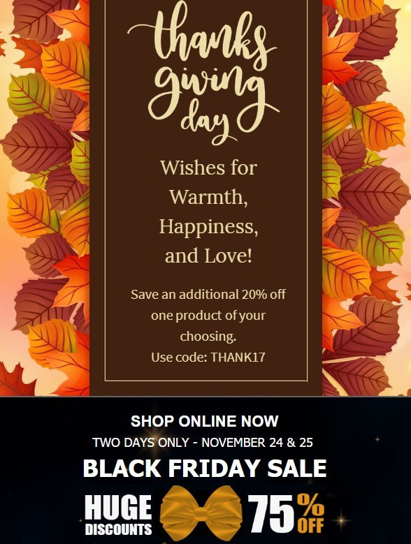 Email Design Ideas For Thanksgiving Day Newsletters Stripo