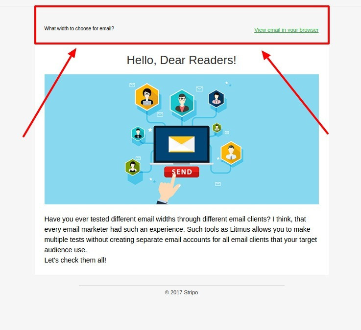 Email Template Size: Element's Width and Height — Stripo email