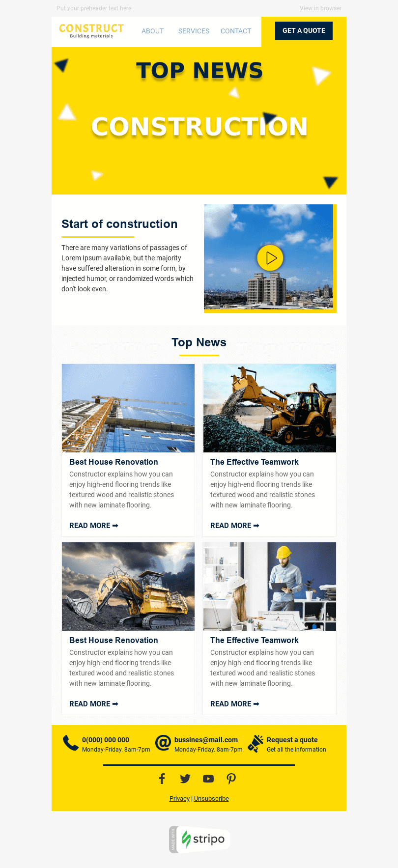 96749 Stripo Construction Trigger newsletter Email Digest Megapolis email web