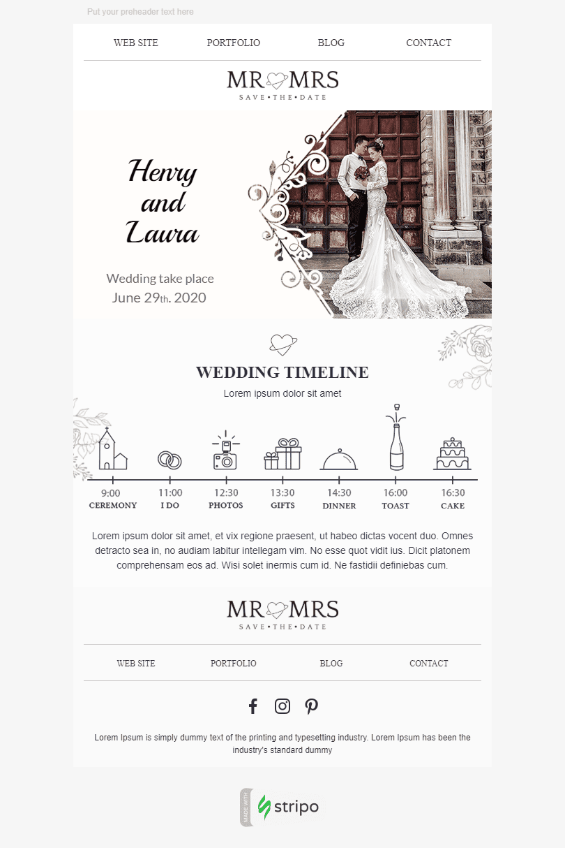 Event Reminder Email Template «Event Of The Year» for Photography industry desktop view