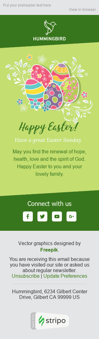 Stripo Publications Blog Holiday newsletter Happy Easter Spring Mood email web