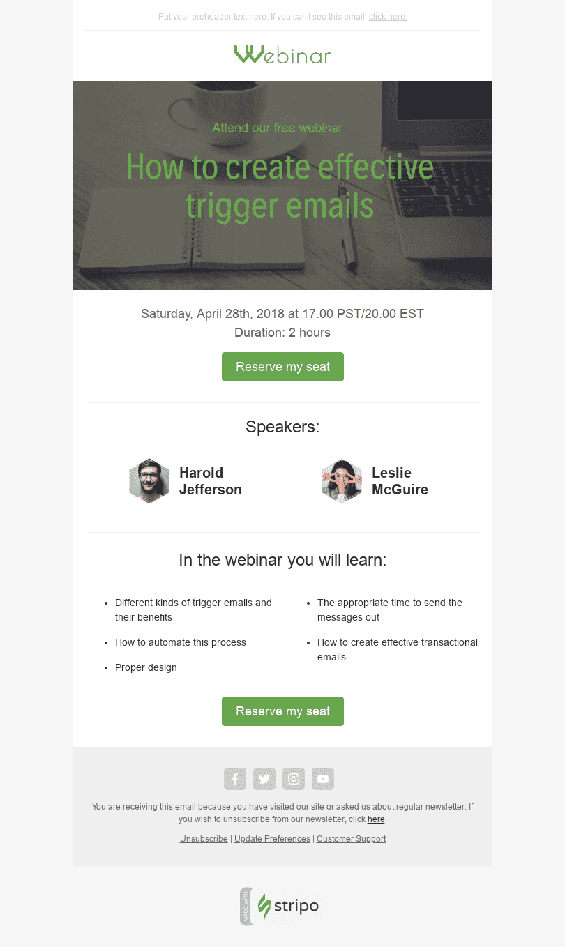 Invitation Email Templates  Free Invitation HTML Email Template