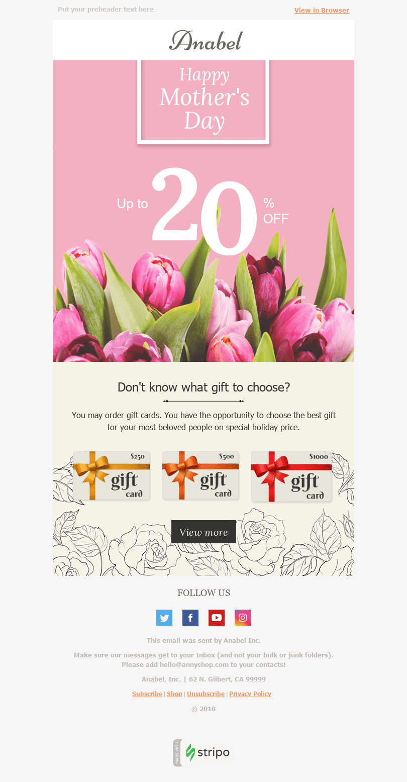 11 Mother S Day Email Templates Free Mother S Day Html Email Template Stripo Email