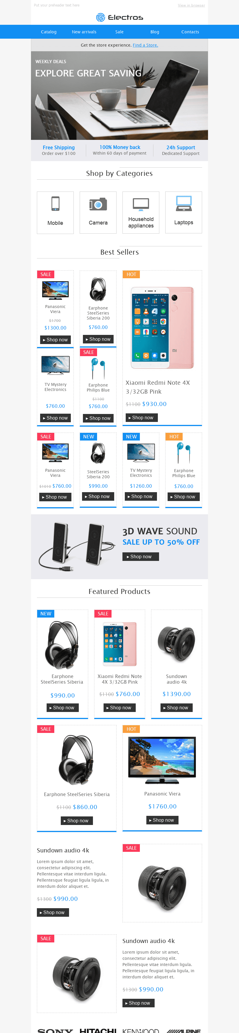 "Promo Email Template ""Best Gadgets"" for Gadgets industry desktop view"